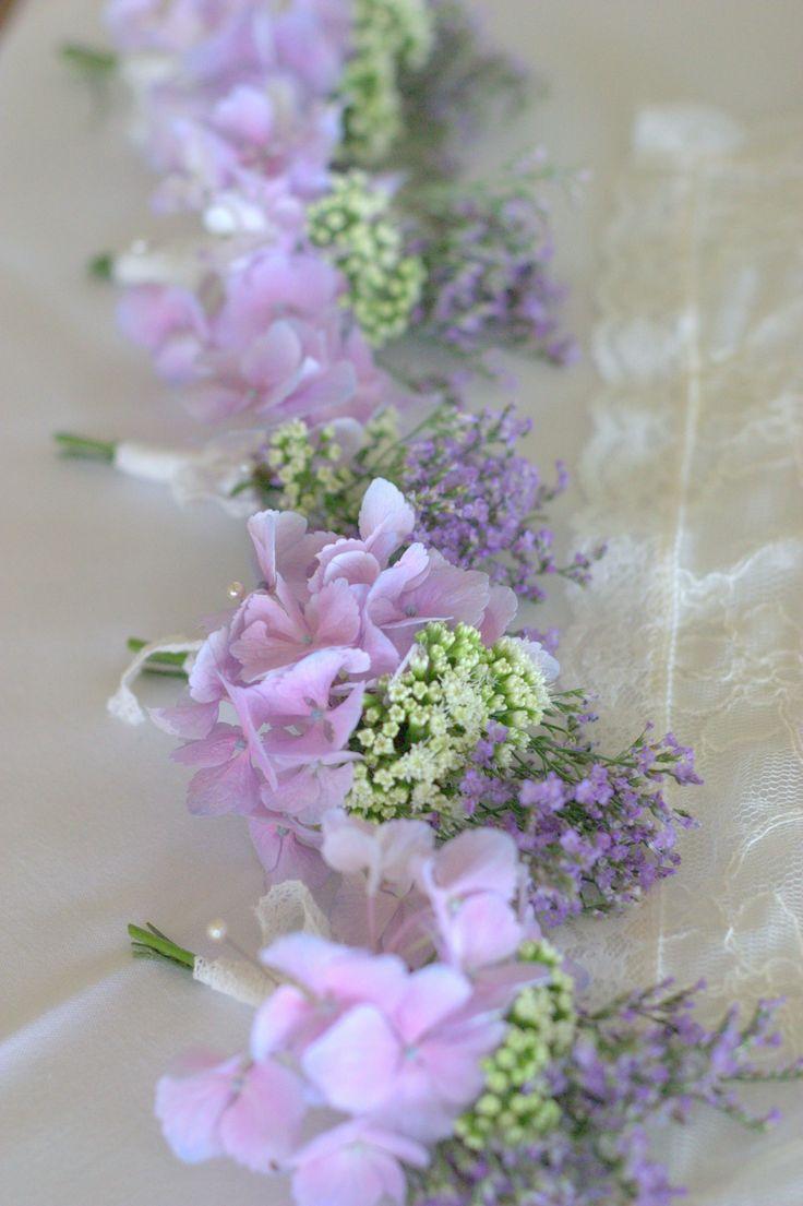 lilac wedding buttonhole vintage style
