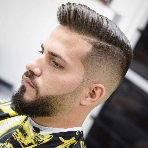 Stylish Beard Fade - Undercut with Pompadour and Faded Beard
