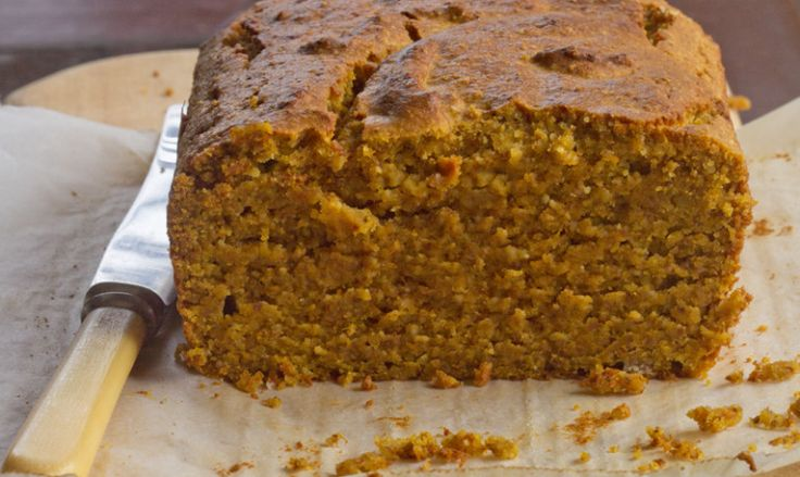 Pumpkin and almond bread: try this gluten free cake either fresh or toasted.