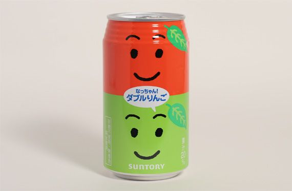 Nachan Drink - Apple-flavored drink can -- I've seen these in Japanese vending machines :D