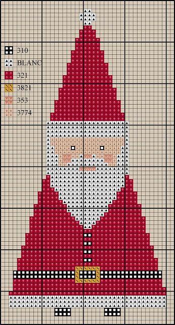 El blog de Dmc: Decoración de Papá Noel en punto de cruz