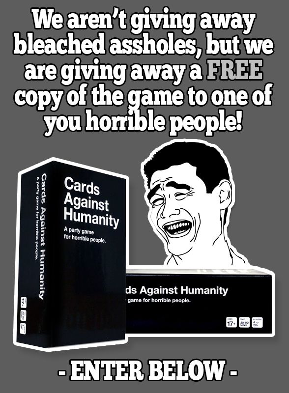 Cards Against Humanity Giveaway http://goo.gl/U920rF