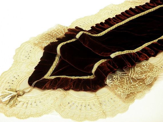 Opulent table decoration Table Runner Wine by ClassyInteriorsDeco, $584.00