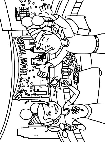 27 best new year coloring pages images on pinterest for Coloring pages new years eve