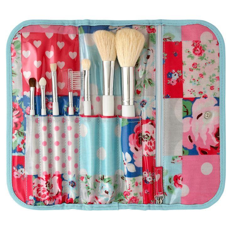 Patchwork Make Up Brush Set Accessories CathKidston