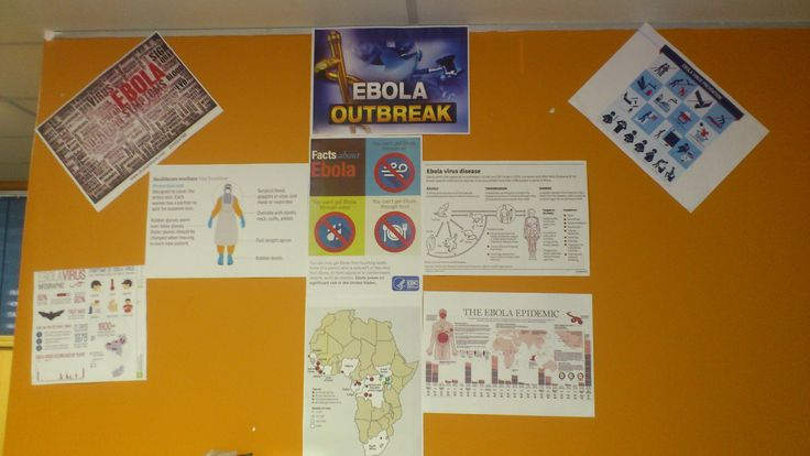 Unisa Library Nelspruit Branch joining in the Ebola exhibition