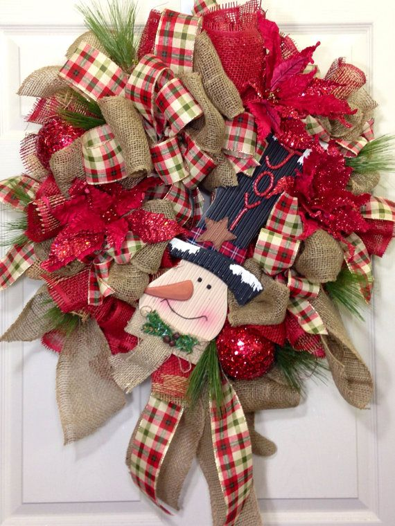 Christmas Mesh Wreath Christmas decor Pinterest Christmas mesh