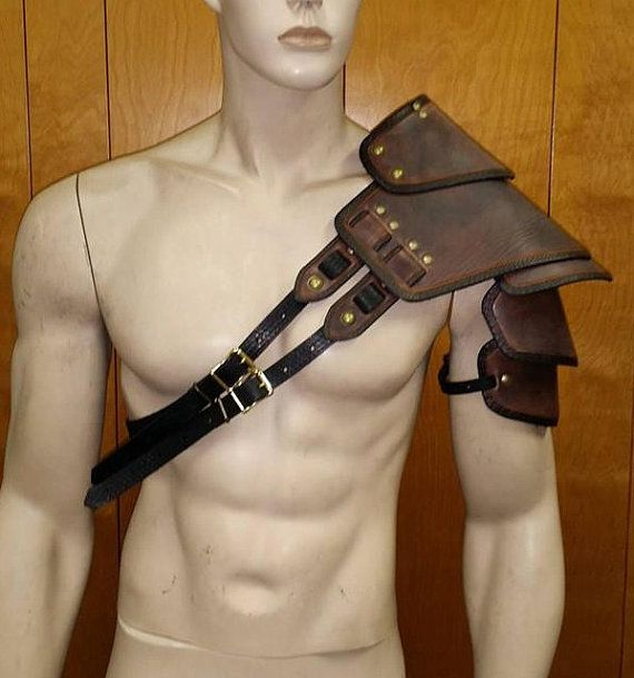 Leather Armor Sentinel Segmented Double by SharpMountainLeather