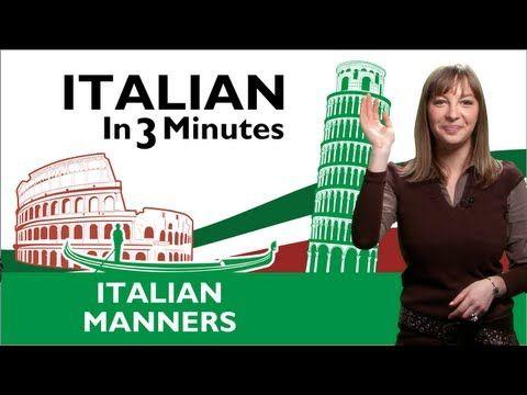 Learn Italian - Italian Manners