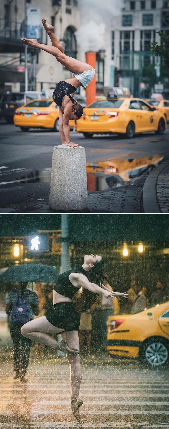 Beautiful Ballet Portrait Of Performers Claiming The Streets Of NYC: ballet is an intimately physical art that has been merged with the beauty of music, photography and dance, captured by Puerto Rico born, NYC-based photographer Omar Robles' camera on the streets of New York city. | culturenlifestyle