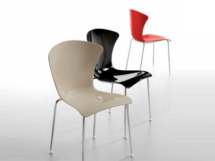 Glossy stuhl esszimmer stapelstuhl infiniti rote m bel for Stapelstuhl esszimmer