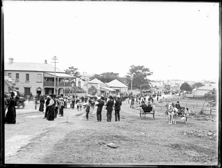 Denison Street, Hamilton NSW  28 October,1907