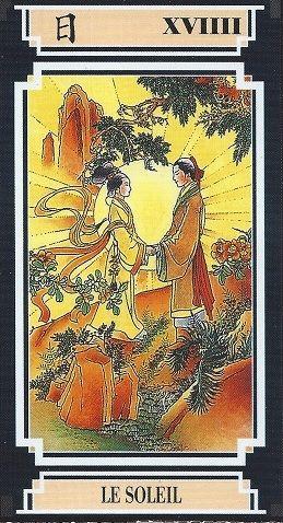 ae10a5afe72e5e Tarot Chinois   illustration   Tarot, The sun tarot card, The sun tarot