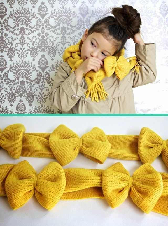 Bow scarf tutorial www.jipbyjan.nl/