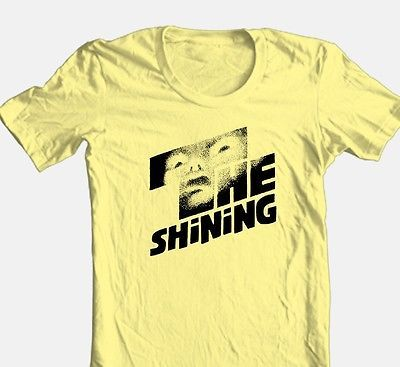 The-Shining-T-shirt-retro-70-039-s-Steven-King-horror-movie-100-cotton-yellow-tee