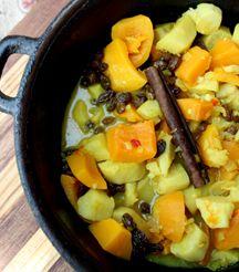 Pumpkin and sweet potato stew