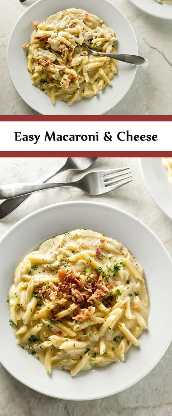 EASY macaroni and cheese that takes only 20 minutes from start to finish. You won't want to share any of these creamy, cheesy goodness!   girlgonegourmet.com