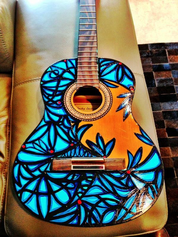 Painted Guitar by A. Mijares ( Art Gallery ). @IamAlexMijares