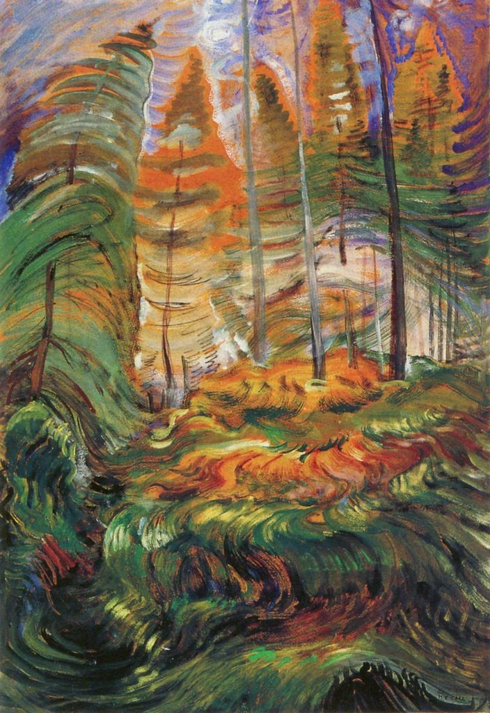A Rushing Sea of Undergrowth [Sketch], 1932-1935. Emily Carr
