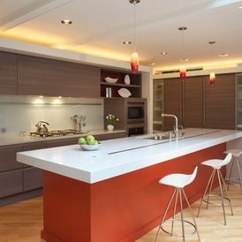 Beautiful Kitchenlove The Frosted Glass Cabinets Flanking Refrigerator
