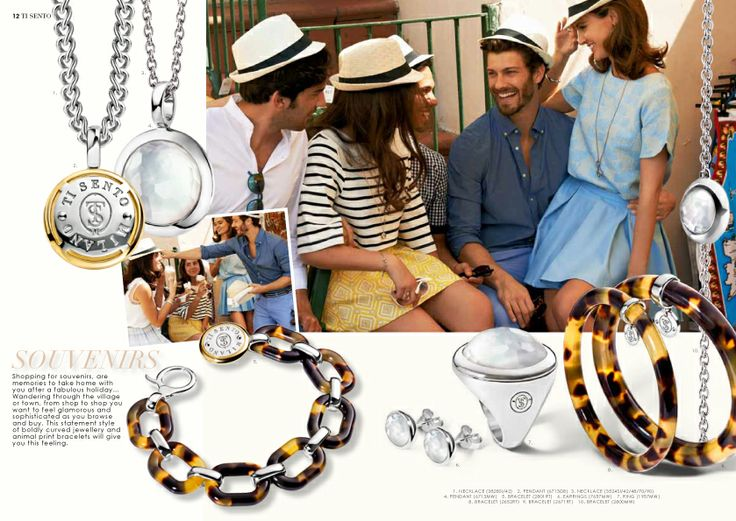 Spring / Summer 2014 Collection #Summer #Italy #Happy #Capri #TiSento #Jewellery #LaVitaAlSole #Mother of Pearl #Friends #Silver #Gold #Ring #Bracelet #Pendant #Necklace #Hat #Fun #Yellow #Blue