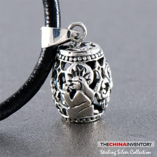 925 STERLING SILVER DRUM CHARM PENDANT SIL0340