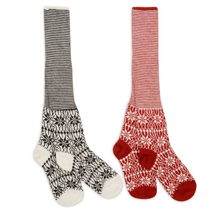 Women's+Long+Organic+Wool+Fairisle+Socks+-+How+beautiful+are+these?+Made+in+100%+organic+wool+coloured+with+non-toxic+eco-friendly+dyes,+these+are+a+medium+knit+to+heavy+knit,+suitable+for+every+day+wear+yet+thick+enough+to+keep+feel+comfortable+in+wellies…