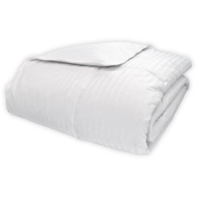St James Home White Goose Down Full Queen Comforter In White