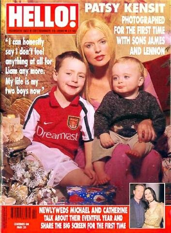 Patsy Kensit with sons James Kerr and Lennon Gallagher