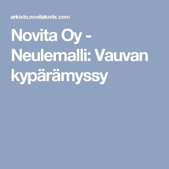 Novita Oy - Neulemalli: Vauvan kypärämyssy