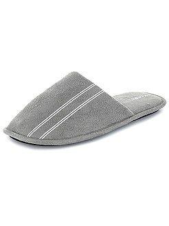 Pijamas, batas - Zapatillas tipo chinelas lisas - Kiabi