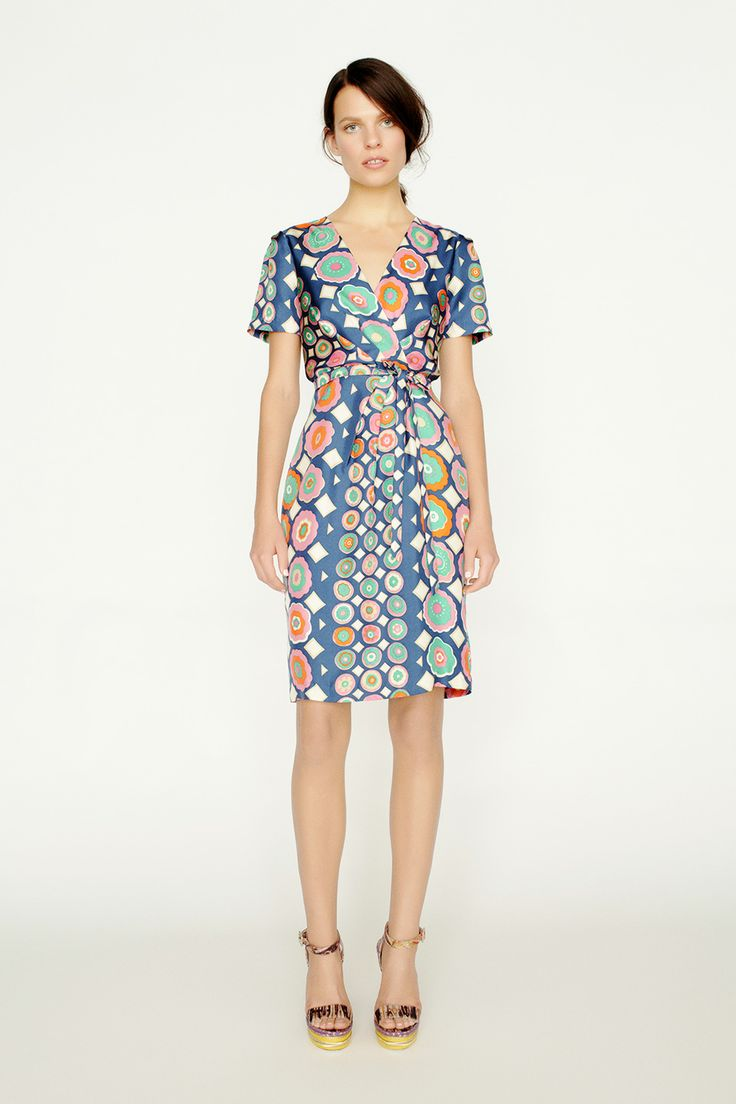 collette by Collette Dinnigan Wrap Bodice Short Sleeve Dress