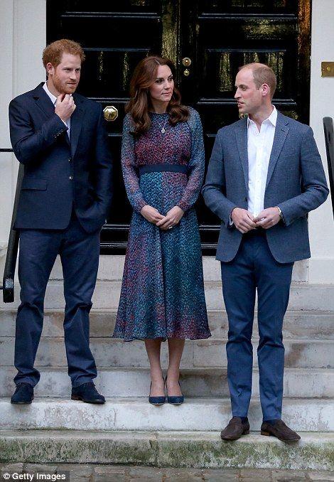 Prince Harry, Catherine, Duchess of Cambridge and Prince William, Duke of…