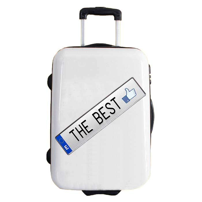 "2differ vinyl sticker, high quality for suitcases. Model ""the best"""