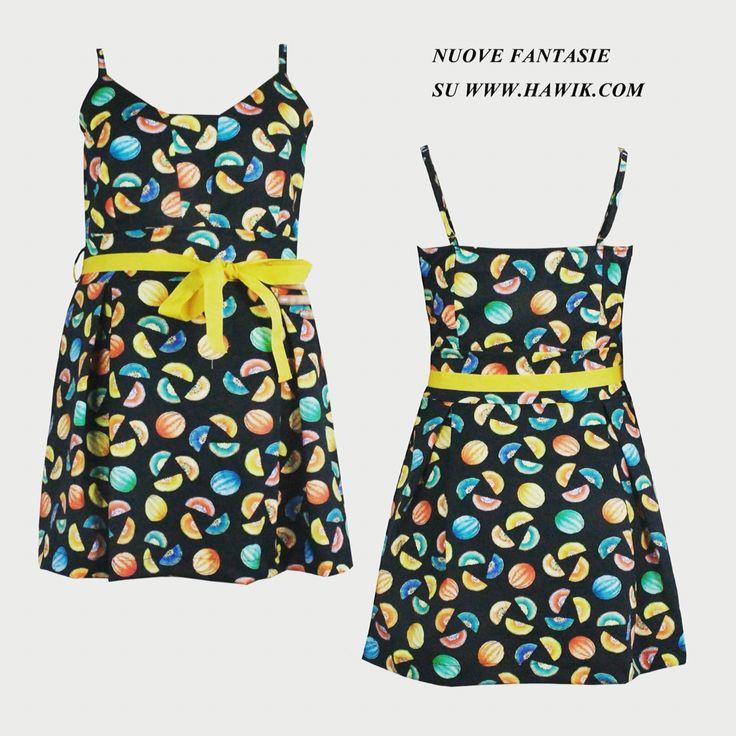 Nuove fantasie su www.hawik.com  Mini abito con meloni