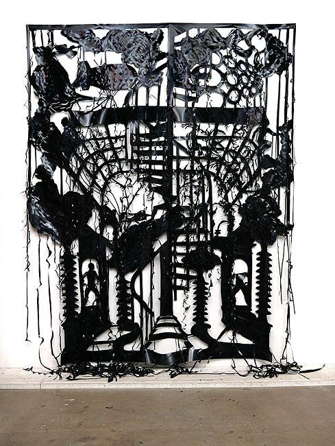 Caroline Rothwell Cascade, 2013 UV stable structural PVC 252 × 200cm
