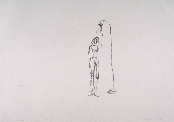 Tracy Emin - Sad Shower In New York Really clever use of blank space, again the loose style of drawing is very to my taste.