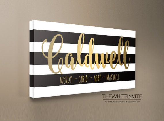 Personalized Family Name Sign Last Name Sign by TheWhiteInvite