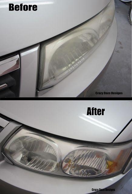 diy cleaning headlights