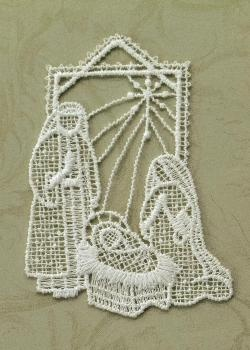 Holy Family Lace Ornament
