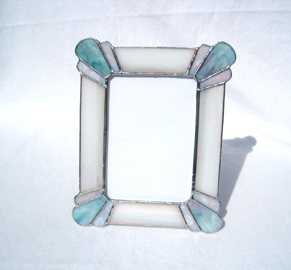 Elegance 5 x 7 Stained Glass Picture Frame on Etsy, $28.00