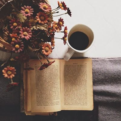 Autumn bouquet...good book...hot coffee...  Great way to enjoy a good book.
