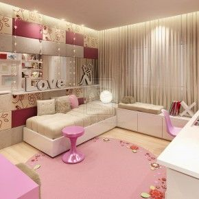 Awesome Teenage Room Design Ideas - Image 04 : Brown Pink Girl Splendid Bedroom by DARKDOWDEVIL