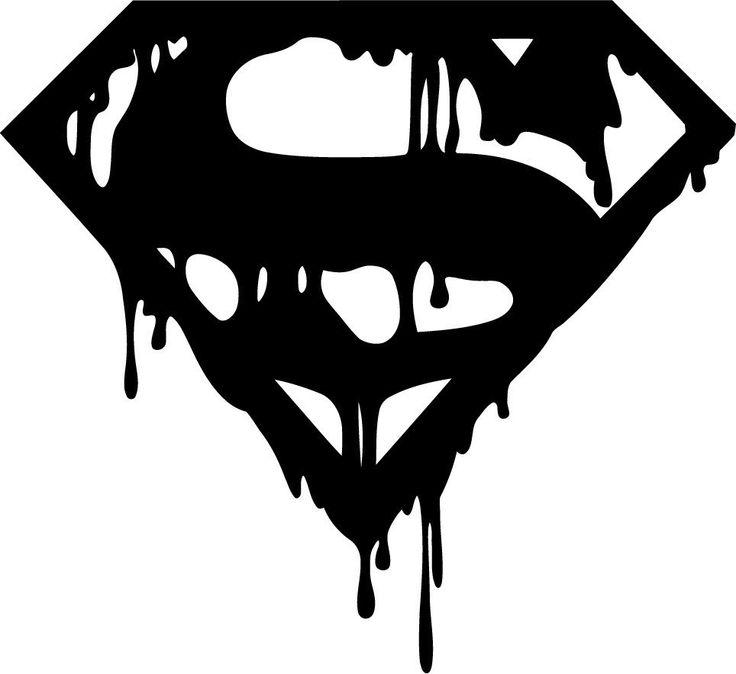 Superman Death Of Bloody Logo Die Cut Vinyl Sticker