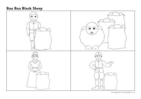 Baa baa black sheep sequencing sheet sb8815 sparklebox for Baa baa black sheep coloring page