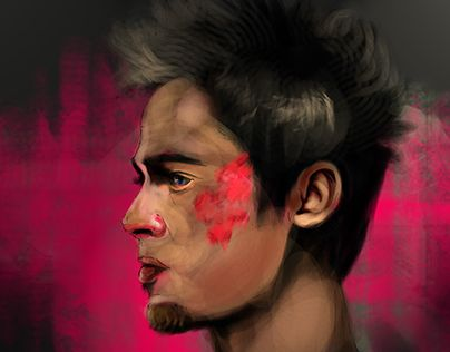 "Check out new work on my @Behance portfolio: ""Fight Club - Brad Pitt"" http://on.be.net/1BYGACa"