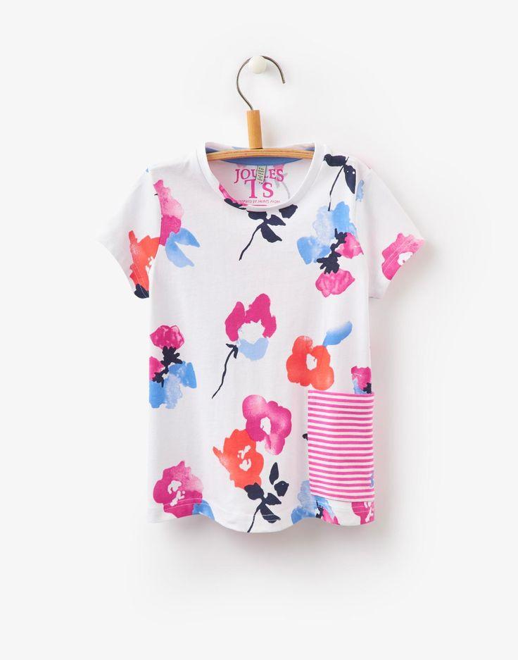 Clara White Floral Pocket T-shirt   Joules US