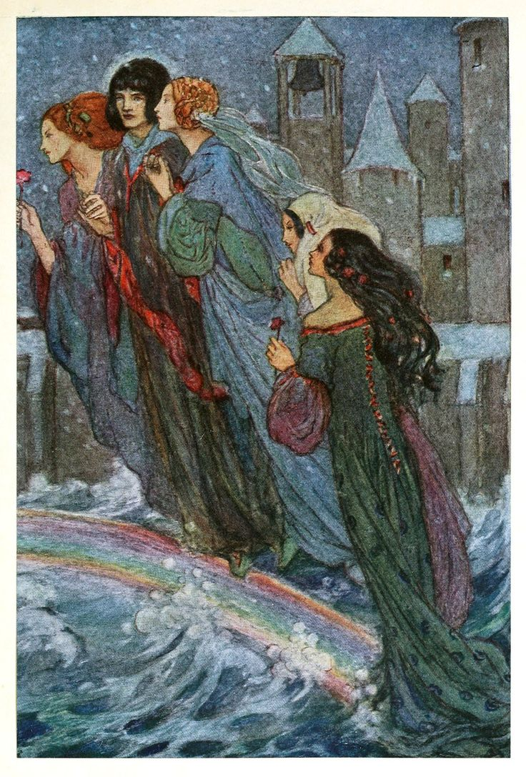 Florence Harrison–rainbow Ghosts Vintage Fairy Tale Illustration Was An  English Art Nouveau And Preraphaelite Illustrator Of Poetry And Children's  Books
