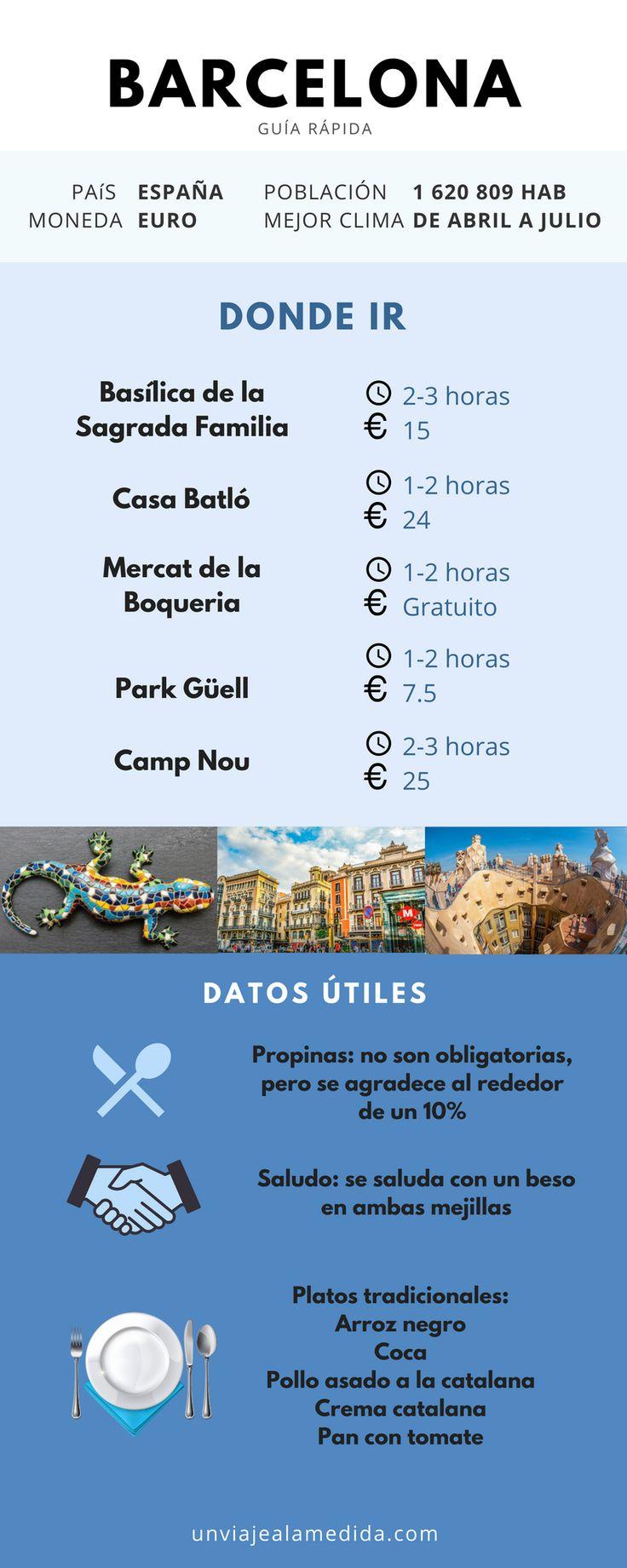 Tips para conocer Barcelona, dale click a la imagen para ver recomendaciones de hospedaje. #barcelona #viajes #españa #gastronomia