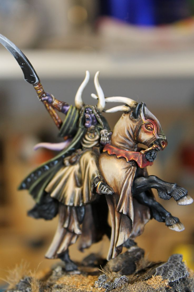 Stregone su Cavalcatura demoniaca/ Sorcerer on Demonic Steed! http://amraslairmodellismo.wordpress.com/2014/01/30/stregone-su-destriero-demoniaco-sorcerer-on-demonic-steed/